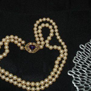 Vintage Florenza Faux Pearl  Necklace